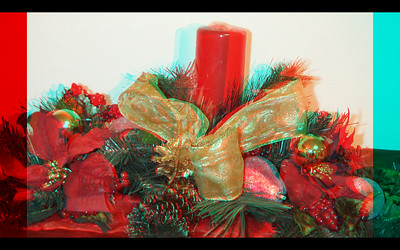 Christmas Decorations  in Anaglyph Stereo