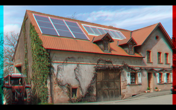 Haupstuhl in 3D anaglyph with Fugi W3 Camera