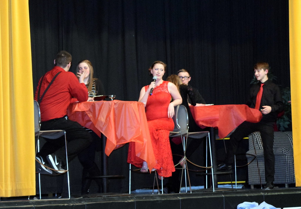 ". Caliche High School students perform ""The Villain I Appear to Be\"" at the school\'s Visual and Performing Arts Show Tuesday, Feb. 26, 2019."