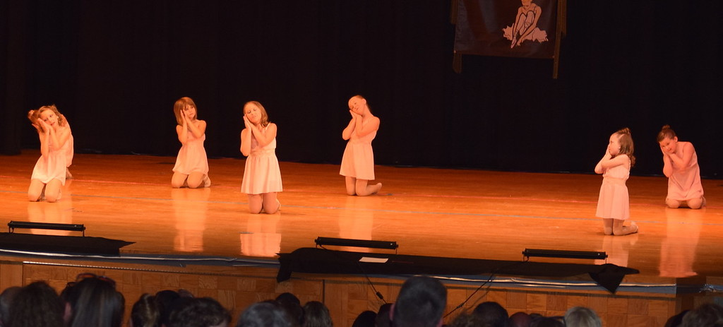 ". Reese Lock-Totten, Rylan Knorr, Hallie Lopez, Natalie Adels, Taylor Swan, Ameila Hupke and Addie Unrein dance to \""Didn\'t Leave Nobody But the Baby\"" at Durante\'s Dance Studio\'s spring recital Saturday, June 10, 2017."