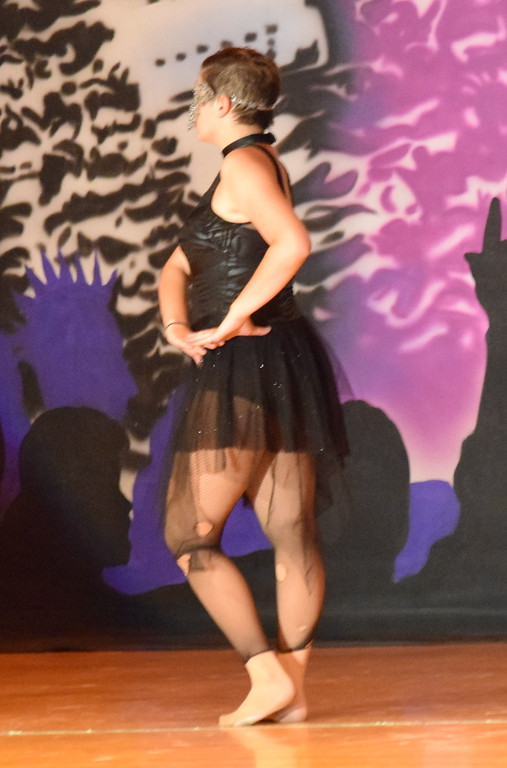 """. Makaiden Pace dance\'s to \""""Human\"""" during Durante\'s Dance Studio\'s \""""Dancing to the 80\'s\"""" recital Saturday, June 9, 2018."""