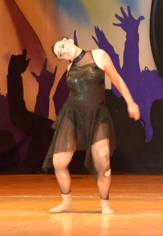 ". Makaiden Pace dances to \""Human\"" during Durante\'s Dance Studio\'s \""Dancing to the 80\'s\"" recital Saturday, June 9, 2018."