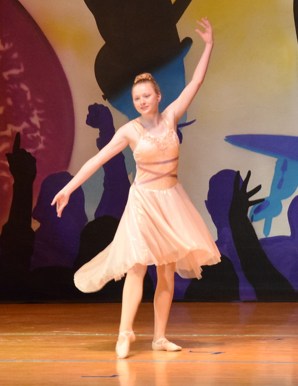 """. Erika Meakins dances to \""""Every Breath You Take\"""" during Durante\'s Dance Studio\'s \""""Dancing to the 80\'s\"""" recital Saturday, June 9, 2018."""