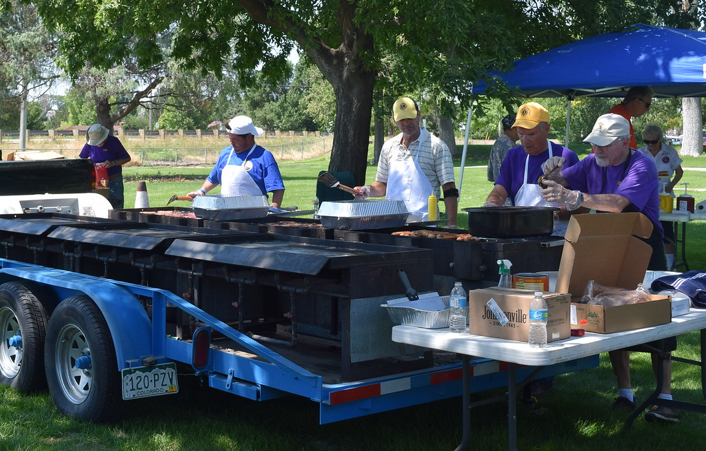 . Sterling Lions Club grilled up lunch at the Colorado Flatlanders Rod Run in the Park Saturday, July 7, 2018, at Pioneer Park.
