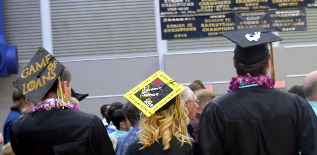 . Caliche High School graduates decorated their caps in a variety of themes for the commencement ceremony Saturday, May 25, 2019.