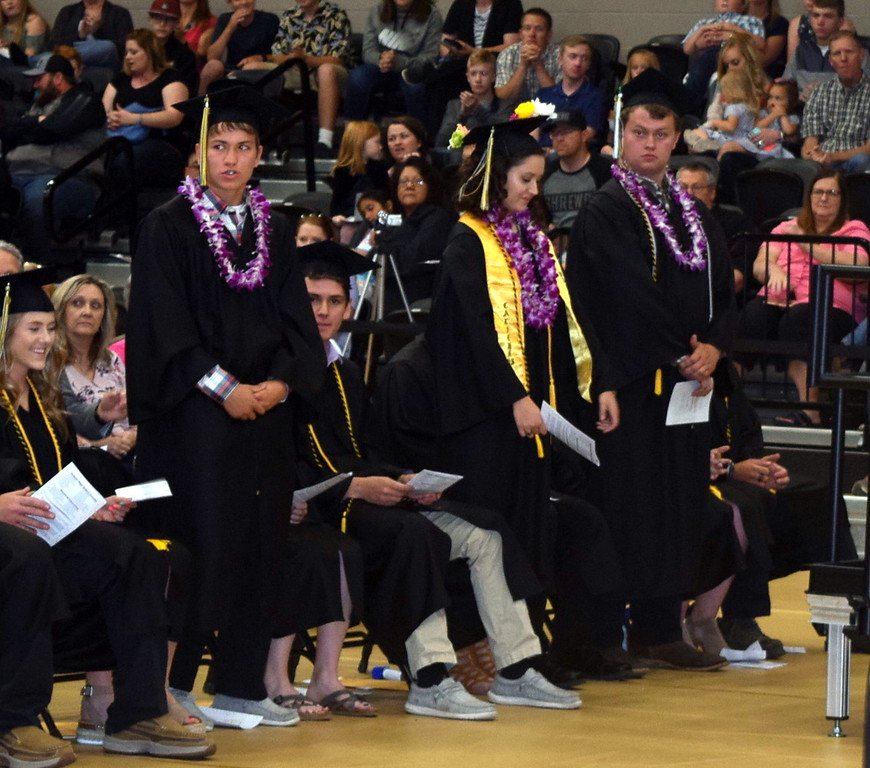. Band and digital media students are recognized at Caliche High School\'s Commencement Ceremony Saturday, May 25, 2019.