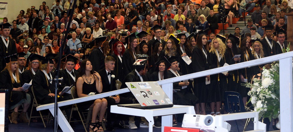 . Graduates receiving scholarships are recognized at Sterling High School\'s Commencement Ceremony Saturday, May 25, 2019.