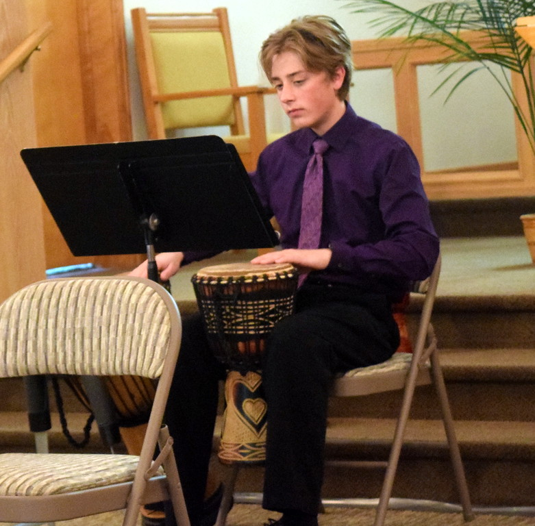 . Bredon Ransdell performs with the Harmonic Horizons Conservatory and Friends during a Recital of the Harmoic Horizons Conservatory and Studio of Darla Korrey Sunday, April 28, 2019.
