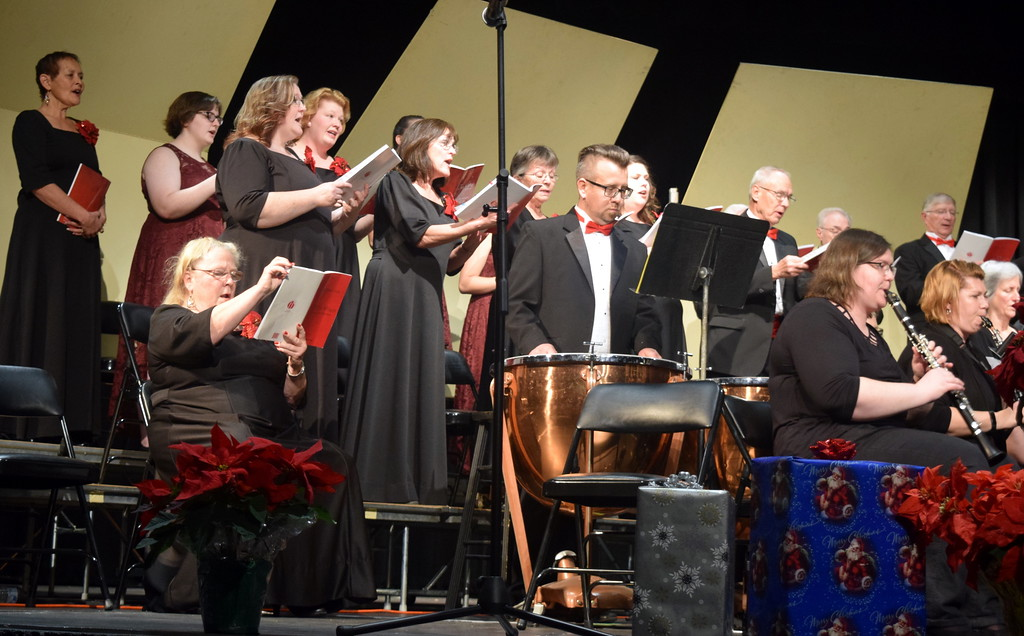 ". The Master Chorale performs ""O Come, All Ye Faithful\"" during its \""27th Noel\"" Christmas Concert Sunday, Dec. 9, 2018."
