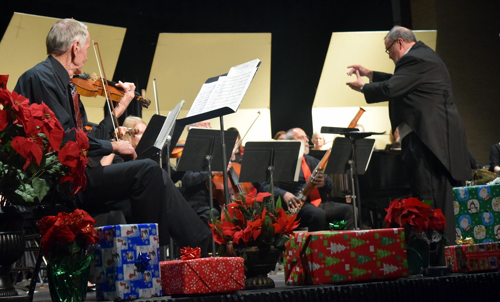 ". The sinfonia, under the direction of Don Johnson, performs the ""Prelude\"" during Master Chorale\'s \""27th Noel\"" Christmas Concert Sunday, Dec. 9, 2018."