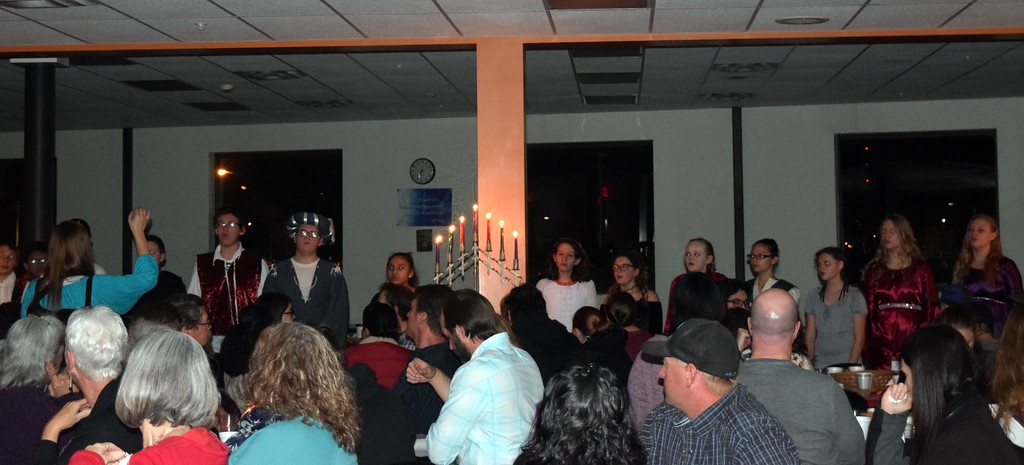 """. The Sterling MIddle School eighth grade choir performs \""""Fill Your Life With Music,\"""" under the direction of Michelle White, during Sterling High School\'s Madrigal Dinner Monday, Dec. 3, 2018."""