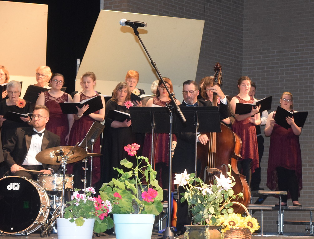 """. Master Chorale and Sterling High School Jazz Choir members perform \""""Iriving Berlin\'s America\"""" at the chorale\'s 28th annual Spring Concert Sunday, May 5, 2019."""