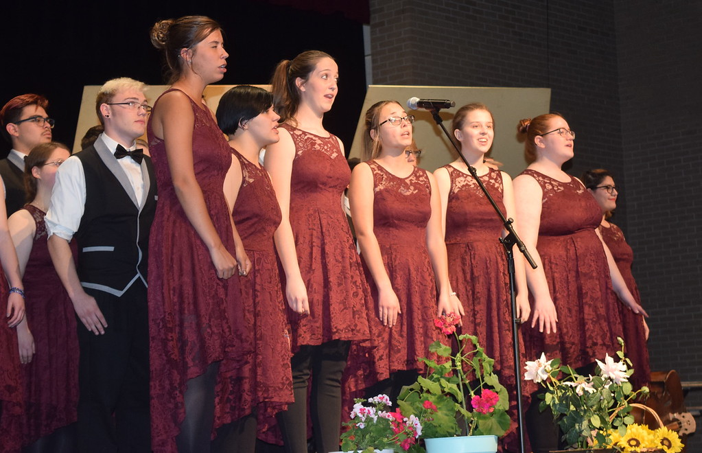 """. Members of the Sterling High School Jazz Choir perform \""""Seasons of Love,\"""" under the direction of Annette Lambrecht, at Master Chorale\'s 28th annual Spring Concert Sunday, May 5, 2019."""