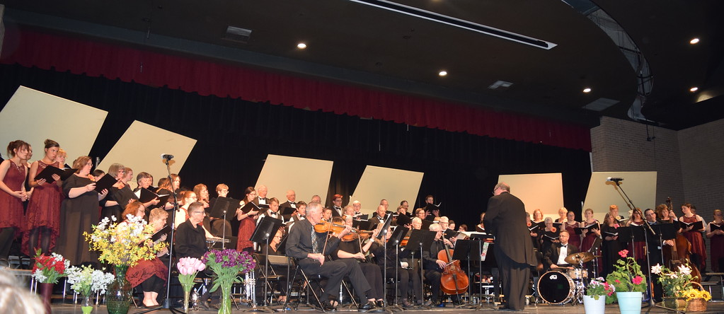 """. Master Chorale, joined by Sterling High School Jazz Choir, performs \""""Colorado Pride,\"""" under the direction of Don Johnson, at the chorale\'s 28th annual Spring Concert Sunday, May 5, 2019."""