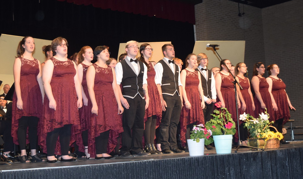 """. The Sterling High School Jazz Choir performs \""""Seasons of Love,\"""" under the direction of Annette Lambrecht, at Master Chorale\'s 28th annual Spring Concert Sunday, May 5, 2019."""