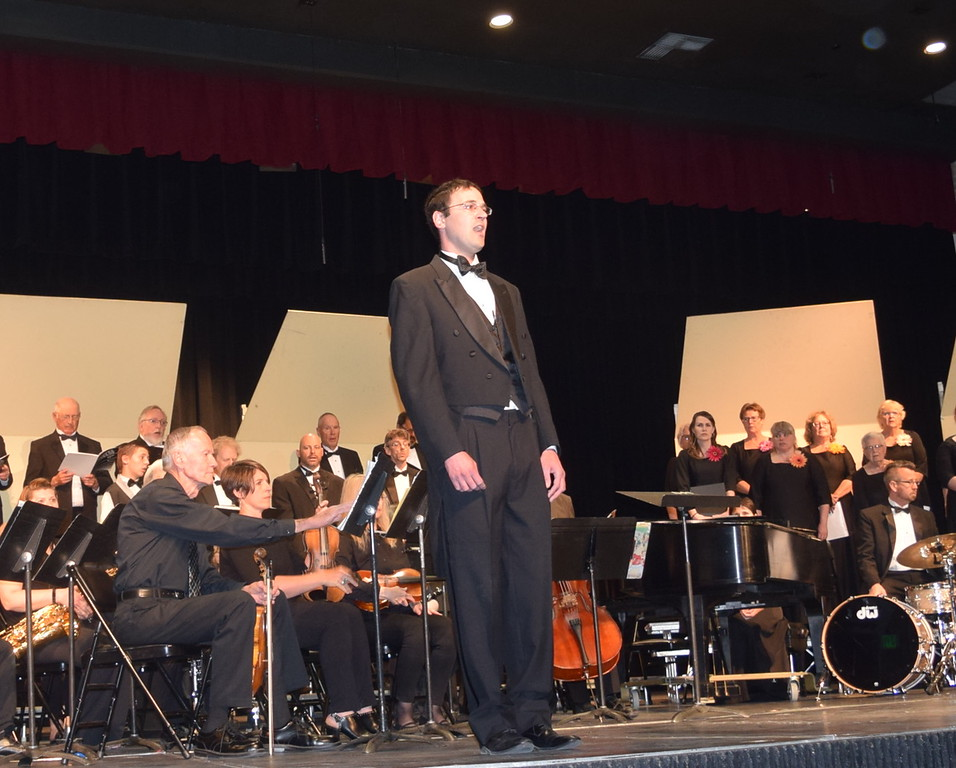 """. Phillip McKibbin sings a solo during Master Chorale\'s performance of \""""Down to the River to Pray\"""" at their 28th annual Spring Concert Sunday, May 5, 2019."""