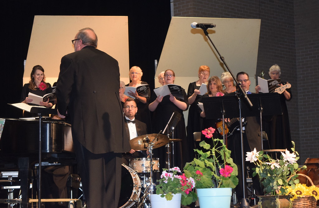 """. Master Chorale members perform \""""Gloria to God in the Highest,\"""" part of the \""""Gospel Mass,\"""" under the direction of Don Johnson, at their 28th annual Spring Concert Sunday, May 5, 2019."""