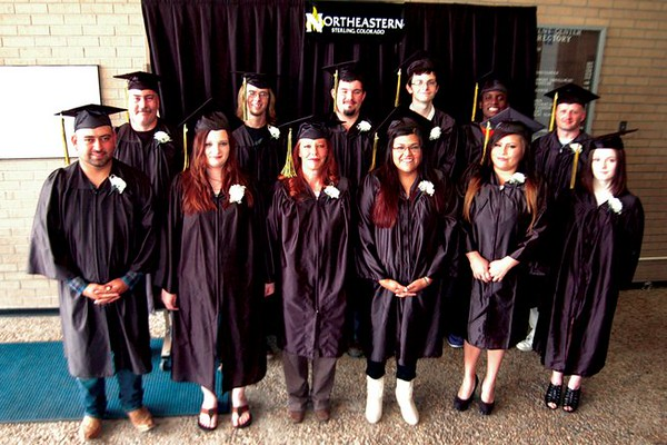The 2016 Northeastern Junior College GED graduates. Front row, from left; Fidencio Martinez, Trisha Bullard, Aileen Miranda, Jackilyn Rodriguez, Krystle Ortega and Veronica Headley.