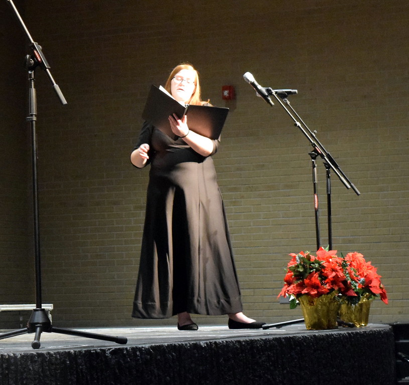 ". Darcy Trump sings a solo during Master Chorale\'s performance of ""The Holly and the Ivy\"" at their 26th Noel Christmas Concert Sunday, Dec. 10, 2017."