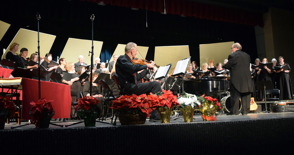 ". Master Chorale performs ""God Rest You Merry, Gentlemen,\"" under the direction of Don Johnson, at their 26th Noel Christmas Concert Sunday, Dec. 10, 2017."