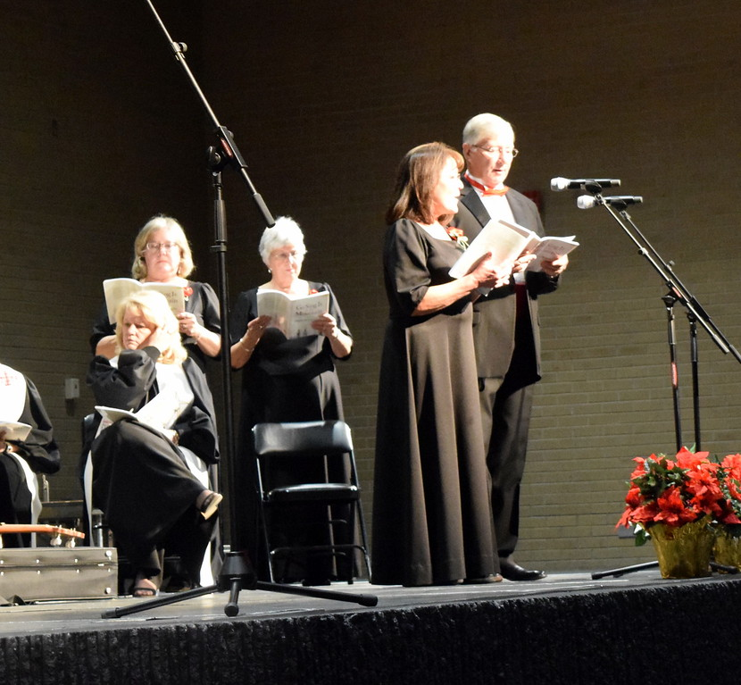". Nita and Richard Gillham sing a duet during Master Chorale\'s performance of ""Hush, Little Baby\"" at their 26th Noel Christmas Concert, Sunday, Dec. 10, 2017."
