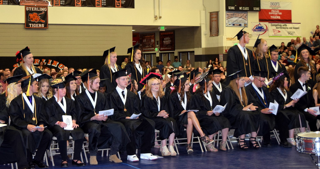 . Academic award winners are recognized during Sterling High School\'s commencement ceremony Saturday, May 26, 2018.