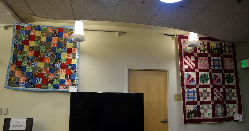 . Quilts in a variety of colors and sizes with all sorts of patterns hang in Sterling Public Library for the 16th annual Quilt Show Friday, March 1, 2019. The show, which features 52 quilts, will be on display through the month of March.
