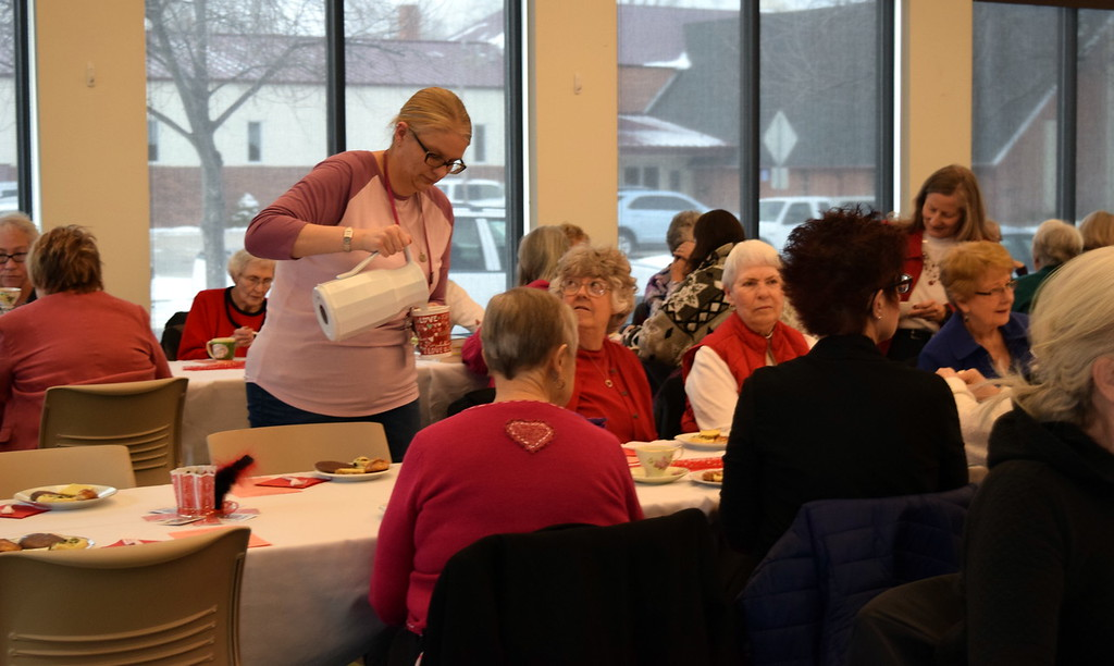 . Librarians serve up tea at Sterling Public Library\'s annual Valentine\'s Tea Friday, Feb. 8, 2019.