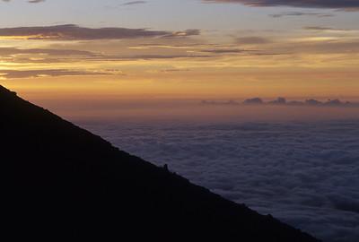Near the top of Mt. Fuji