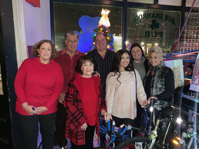Host Steve Panagiotakos and his family