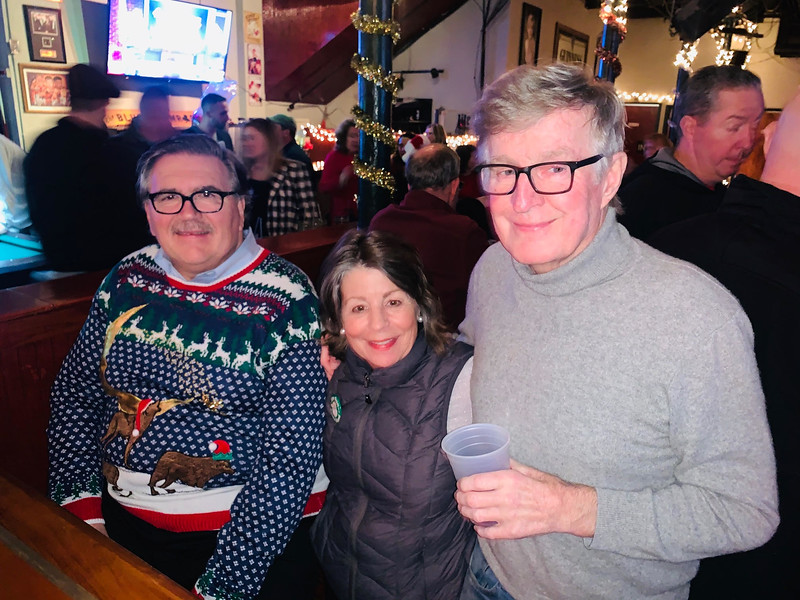 From left, Sun Santa Honorary Chairman John Thibault of Chelmsford, Coordinator Nancy Roberts of Westminster and founder Jack Costello of Newburyport