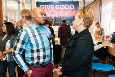 SHARE CHARLOTTE - Giving Tuesday Check Presentation to Steve Smith Family Foundation @ Google Fiber 11-28-17 by Jon Strayhorn