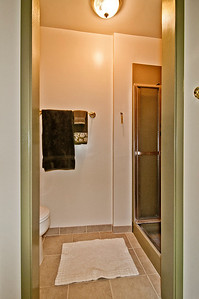 bath three qtr down shower & toilet room