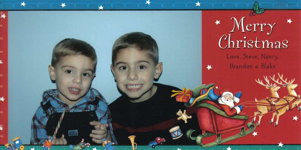 Brandon, Blake, Christmas, 2007
