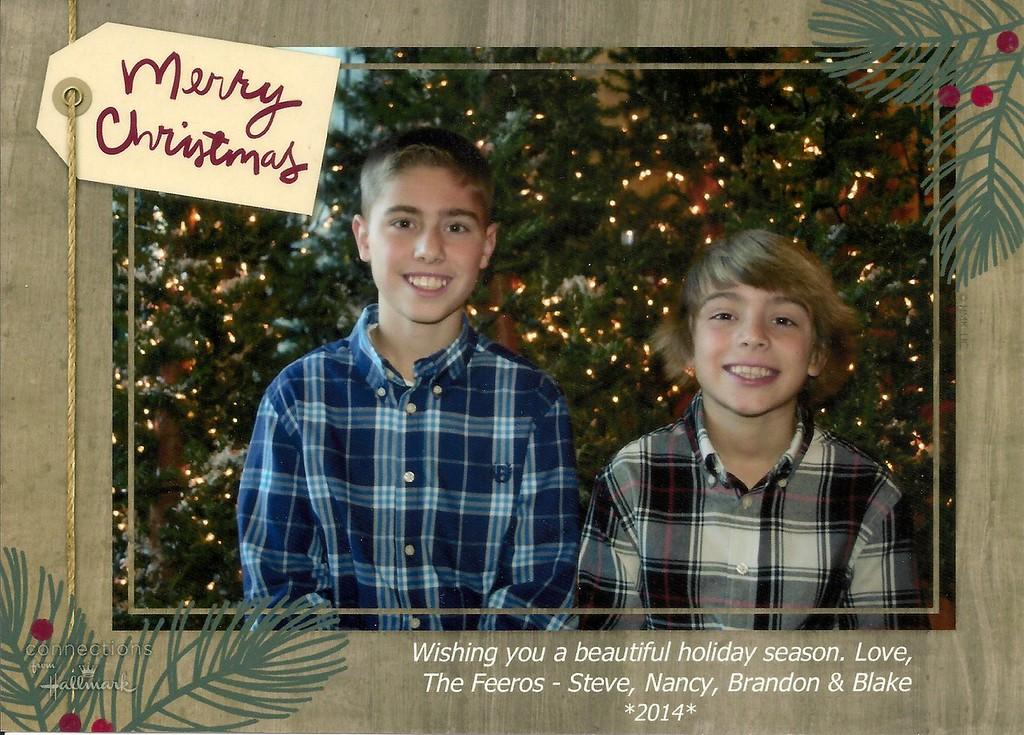 Brandon, Blake, Christmas, 2014