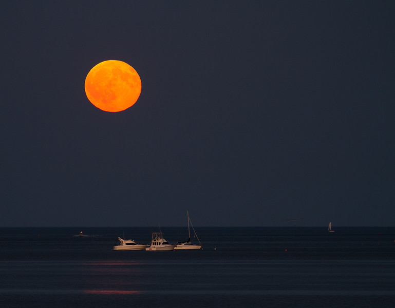Moonrise from Cedar Rocks, Duxbury
