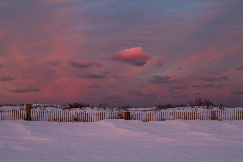 Winter Sunset at Duxbury Beach