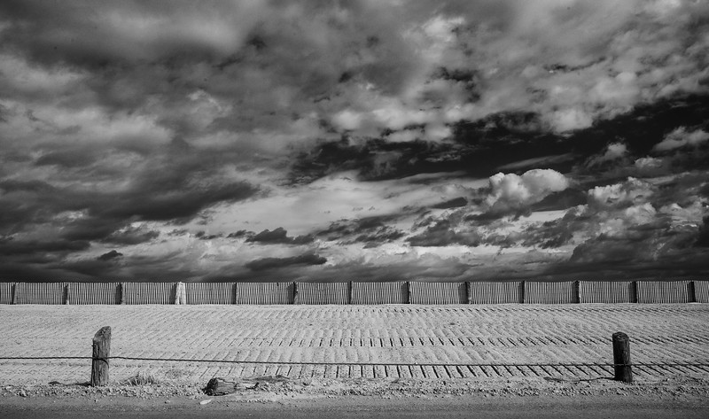 Duxbury Beach lines and clouds