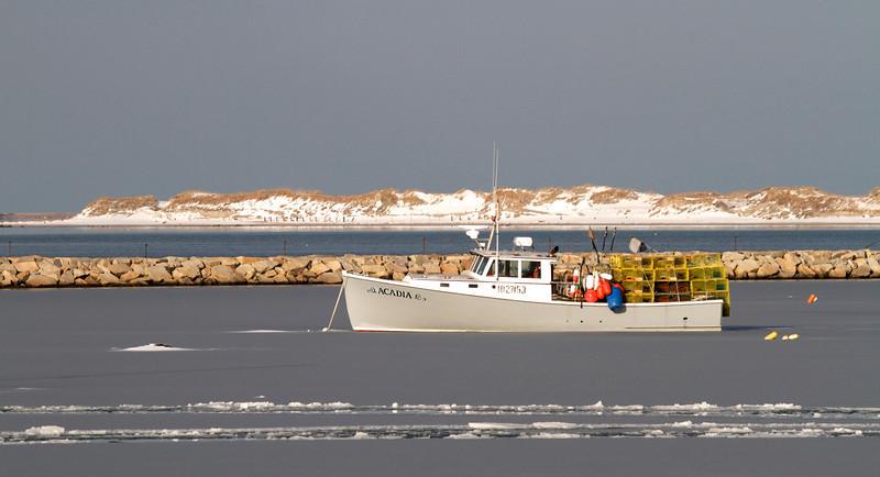 Plymouth Harbor Winter
