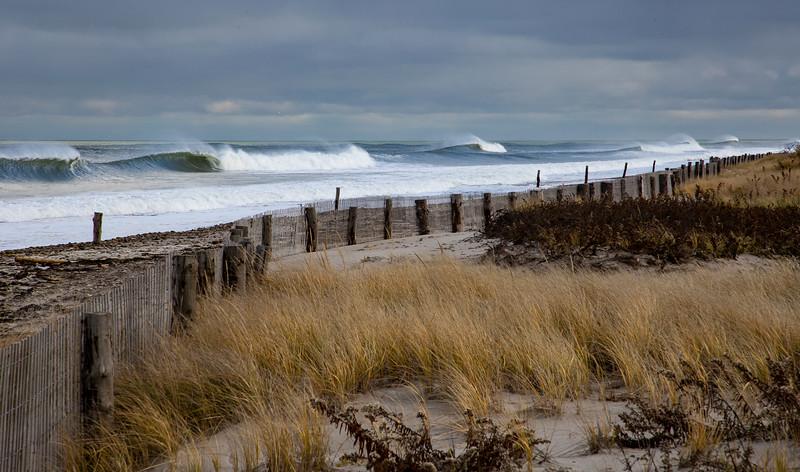Duxbury Beach storm surf