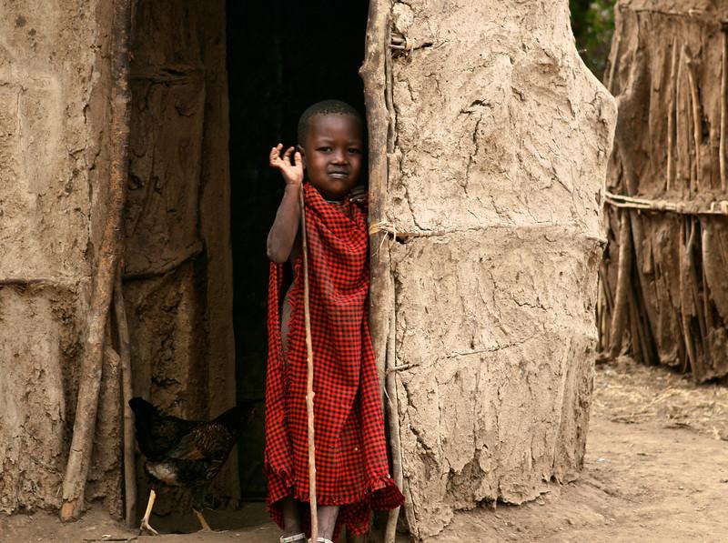 Maasai Child (and Chicken)