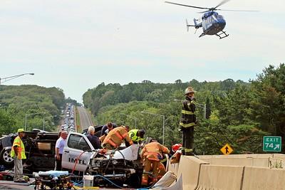 Hartford Hospital Life Star, Niantic Fire Dept, Flanders Fire Dept, East Lyme, CT