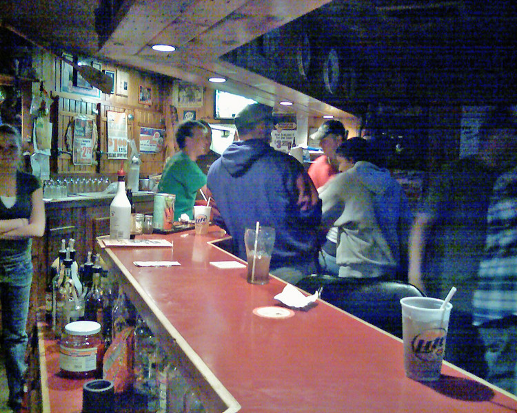 The otherside of the bar at Rustys