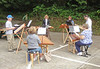 When the weather cooperates in the summer we play in a small park in the neighborhood.  This is our July 2012 session.