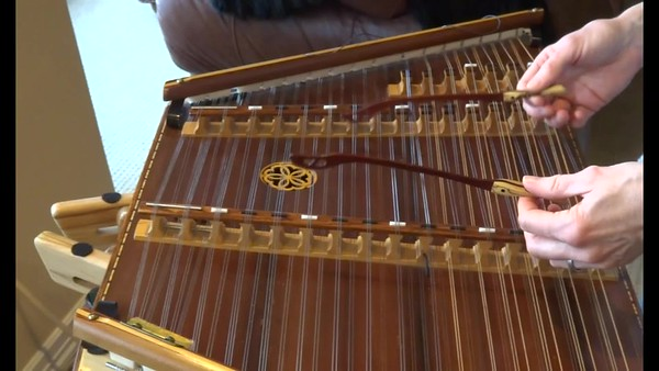 I am mesmerized by the technique with which Kels plays the hammered dulcimer - minimal movement - but beautiful sound!  I highly recommend watching her hands, and learning to play with minimal wrist and arm movement - unless of course you want to emphasize a section of music.  But, for playing softly and beautifully....