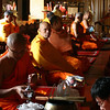 Seated monks at Wat Phra Singh