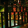 Night view from our balcony at the Golden Banana Boutique Resort