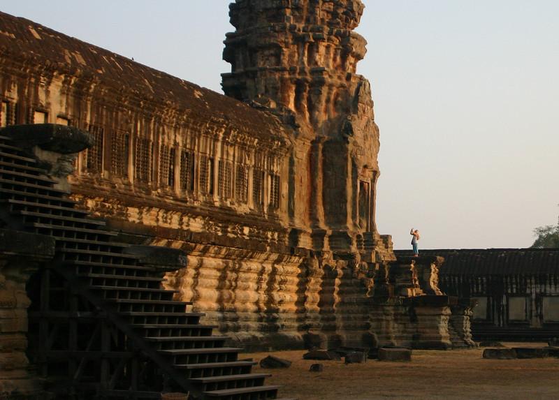 2nd level, east side, Angkor Wat