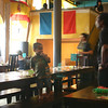 Desperado Mexican Restaurant.  I really like that there's so much motion, but the child is still.   It seems to make him stand out as the focal point. . . which he is.