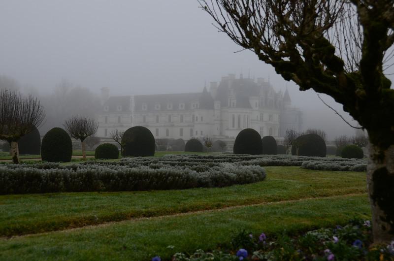 Château de Chenonceau from the Garden of Diane de Poitiers